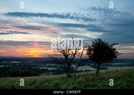 Chilterns Sunset - Stock Image