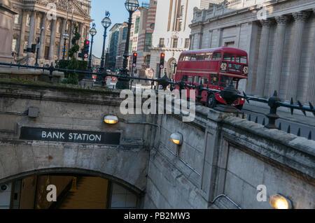 The Bank Station entrance, London, United Kingdom - Stock Image