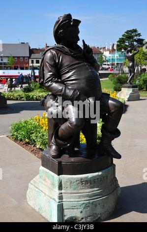 Falstaff statue, Bancroft Gardens, Stratford upon Avon, Warwickshire - Stock Image