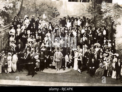 Palace Theatre Company - London - Theatrical Garden Party - Stock Image