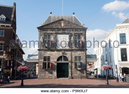 Gouda The Netherlands De Waag, weighing house completed in 1670 - Stock Image