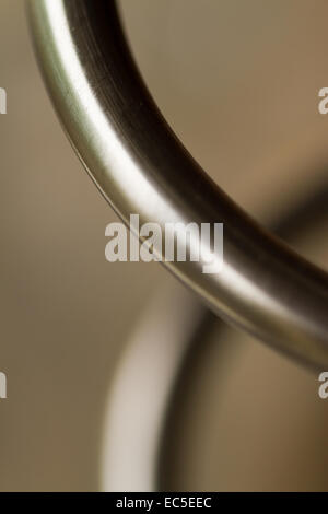 steel tube, close-up - Stock Image