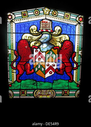 Stained glass from Montecute House, Somerset, England - Stock Image