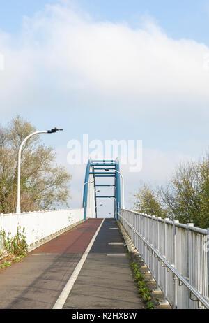 Cycle and pedestrian bridge over A14 Milton to Cambridge England 2018 - Stock Image