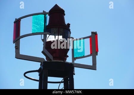 detail of a marine light in Gothenburg - Stock Image