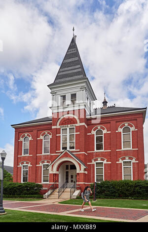 Historic Hargis Hall, built in 1887 on the Auburn University college campus in Auburn Alabama, USA. - Stock Image