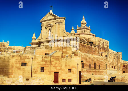 Victoria, Gozo island, Malta: Cathedral of the Assumption in the Cittadella - Stock Image