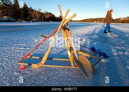 Winter tools Northern Sweden. - Stock Image