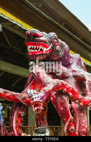 UBUD, BALI - MARCH 04, 2011: Ogoh-ogoh statues at the Ngrupuk parade in Bali island in Indonesia - Stock Image