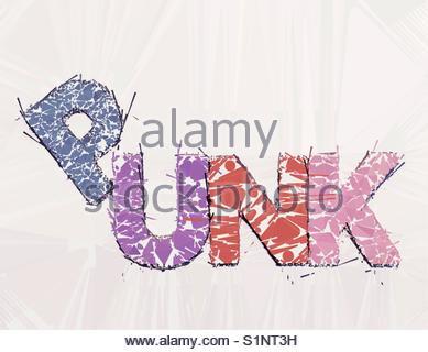 punk (word) - Stock Image