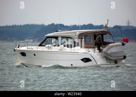 Power,Boat,boating,The Solent,Cowes,isle of Wight,England, UK, - Stock Image