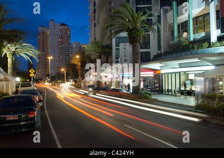 Gold Coast highway Surfers Paradise Gold Cost Australia - Stock Image