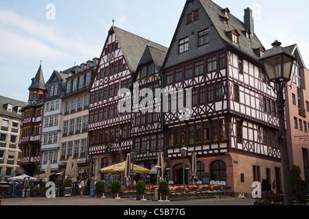 Frankfurt cross timbered houses Fachwerkhaus City Hall Rathaus - Stock Image