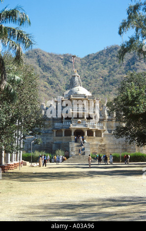 Jain Temple of Adinath at Ranakpur, Rajasthan, India - Stock Image