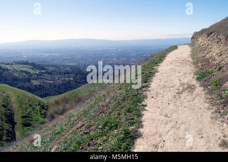 There are many hikes with good views at Sierra Vista near San Jose. - Stock Image