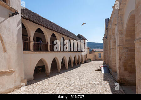The Monastery of The Holy Cross (Timios Stavros), Omodos (Troodos Mountains), Limassol District, Republic of Cyprus - Stock Image