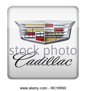 Cadillac car logo - Stock Image
