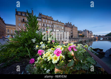 Metz France city by the blue hour. - Stock Image