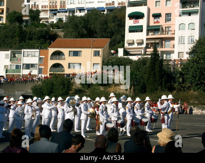 Sailors on parade during the Honorary Freedom of the City of Gibraltar Ceremony - Stock Image