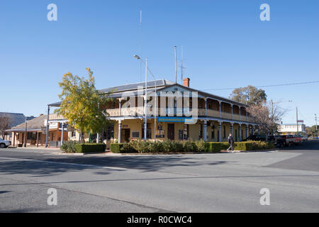 Boorowa Hotel, Hilltops Region, South West Slopes of New South Wales, Australia - Stock Image