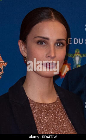 London, United Kingdom. 16 January 2019.  Heida Reed arrives for the red carpet premiere of Cirque Du Soleil's 'Totem' held at The Royal Albert Hall. Credit: Peter Manning/Alamy Live News - Stock Image