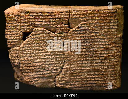 6407. Cuneiform inscription prizing king Nebuchadnezzar as king of justice, wise, pious and strong. Babylon, Mesopotamia, c. 605-562 BC. - Stock Image