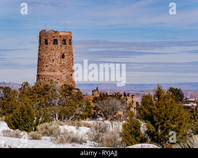 The watchtower at Desert View. Mary Colter architect. - Stock Image