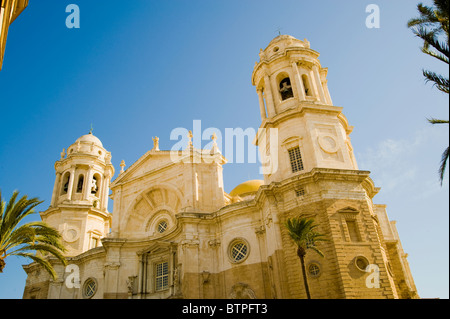 Cadiz Cathedral, Cadiz, Andulucia, Spain - Stock Image