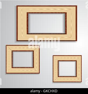 Vintage isolated blank frame - Stock Image