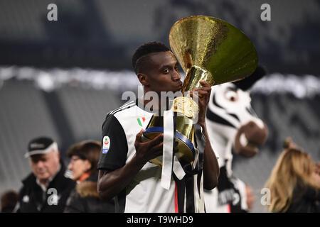 Blaise Matuidi (Juventus)   during the Italian 'Serie A' match between Juventus 1-1 Atalanta at Allianz  Stadium on May 19 , 2019 in Torino, Italy. (Photo by Maurizio Borsari/AFLO) - Stock Image