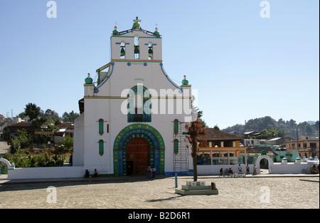San Juan Chamula Church, Nr San Cristobal de Las Casas, Chiapas Province, Mexico - Stock Image