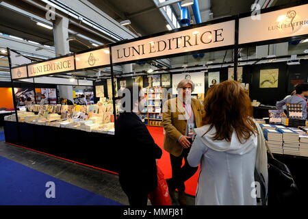 Turin, Piedmont, Italy, 10th May, 2018. International Book fair 2018,first day.Luni publisher's stand. Credit: RENATO VALTERZA/Alamy Live News - Stock Image