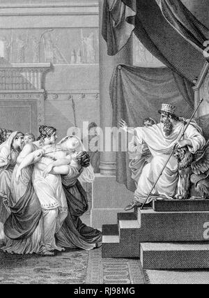 'ESTHER' Ahasuerus and Esther - Stock Image