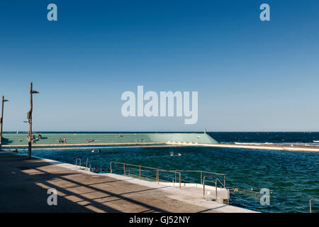 The Newcastle City Council Ocean Baths in New South Wales, Australia. - Stock Image