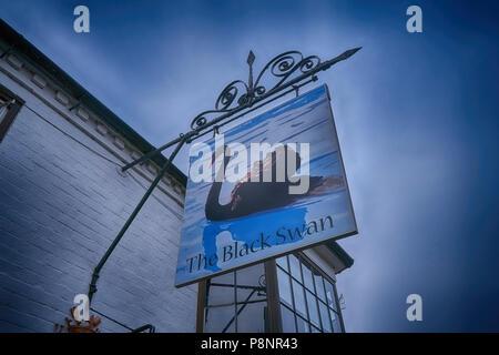 black swan pub stratford upon avon - Stock Image