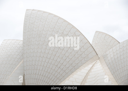 SYDNEY, Australia - SYDNEY, Australia - The distinctive sails of the roof of the Sydney Opera House, situated prominently - Stock Image