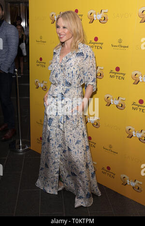 Celebs attend gala evening for Dolly Parton's 9 to 5 The Musical  Featuring: Kylie Minogue Where: London, United Kingdom When: 17 Feb 2019 Credit: Phil Lewis/WENN.com - Stock Image