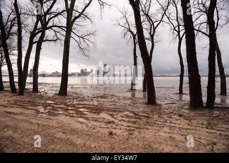 Record rainfall creates flooding in Kentucky April 2015 - Stock Image