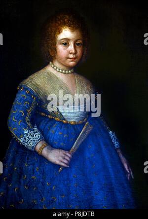 Ritratto di Fanciulla - Portrait of a girl by Chiara Varotari 1584-1663 Italy Italian - Stock Image