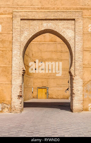 Majestic gate in the Medina of Marrakech, Morocco - Stock Image