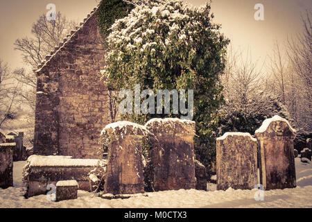 St Machan's church, Clachan of Campsie, Campsie Parish, nr Glasgow, Scotland - Stock Image