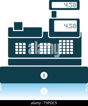 Cashier Icon. Shadow Reflection Design. Vector Illustration. - Stock Image