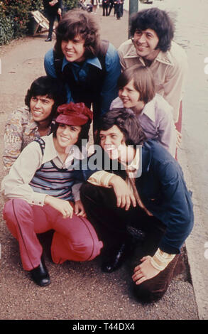 THE OSMONDS American family music group in London about 1973 - Stock Image