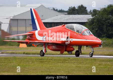 Royal Air Force British Aerospace Hawk T.1A of aerobatics display team Red Arrows - Stock Image