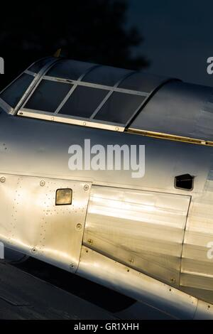 British Hawker Hurricane WW2 era World war 2 II two aircraft fighter fuselage side detail - Stock Image