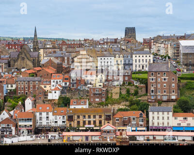 View of Whitby town. - Stock Image