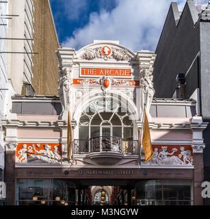 Royal Arcade, 1879, Albemarle Street/Old Bond Street, London England - Stock Image