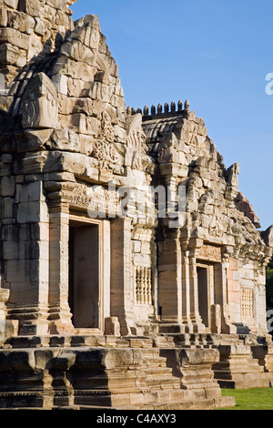 Thailand, Nakhon Ratchasima, Phimai.  Prasat Phimai temple, built by the Khmers during the 11th century - Stock Image