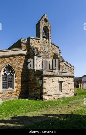 The church of St Mary in the village of Little Harrowden, Northamptonshire, UK; earliest parts of the church date from late 13th century. - Stock Image
