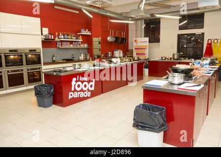 Czech Republic, Prague. Cooking school kitchen. Credit as: Wendy Kaveney / Jaynes Gallery / DanitaDelimont.com - Stock Image